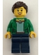 Minifig No: twn260  Name: Camper - Female, Dark Blue Legs