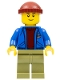 Minifig No: twn263  Name: Light Keeper, Blue Anchor Jacket