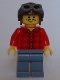 Minifig No: twn286  Name: Flannel Shirt, Sand Blue Legs, Aviator Cap