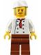 Minifig No: twn310  Name: Chef, Moustache, Dark Tan and Gray Sideburns, Stubble