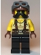 Minifig No: twn379  Name: Man, Tan Tank Top, Black Moustache, Reddish Brown Suspenders and Aviator Cap with Dark Bluish Gray Goggles