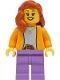 Minifig No: twn416  Name: Mom - Bright Light Orange Jacket, Medium Lavender Legs, Dark Orange Hair