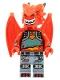 Minifig No: vid019  Name: Metal Dragon