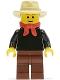 Minifig No: ww009b  Name: Gold Prospector - Male, Reddish Brown Eyebrows