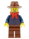 Minifig No: ww025  Name: Gold Prospector, Reddish Brown Fedora