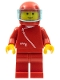 Minifig No: zip002  Name: Jacket with Zipper - Red, Red Legs, Red Helmet, Trans-Light Blue Visor