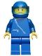 Minifig No: zip004  Name: Jacket with Zipper - Blue, Blue Legs, Blue Helmet, Trans-Light Blue Visor