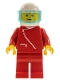 Minifig No: zip009  Name: Jacket with Zipper - Red, Red Legs, White Helmet, Trans-Light Blue Visor