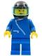 Minifig No: zip024  Name: Jacket with Zipper - Blue, Blue Legs, Black Helmet, Trans-Light Blue Visor