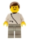 Minifig No: zip029  Name: Jacket with Zipper - White, Light Gray Legs, Brown Male Hair