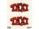 Part No: 128stk02  Name: Sticker for Set 128-1 - Sheet 2 (190227)