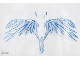 Part No: 38790  Name: Plastic Wings with White, Gray, and Blue Lightning on Transparent Background Pattern