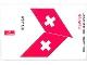 Part No: 4032.8stk01a  Name: Sticker Sheet for Set 4032-8 - Sheet 1, SWISS Airlines (53351/4268960)