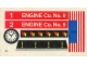 Part No: 590stk01  Name: Sticker Sheet for Set 590 - US Flag Version - (4659)