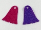 Part No: 61547pb01  Name: Mini Doll, Cape Cloth, Bell Shaped with 3 Notches, One Side Magenta, One Side Dark Purple