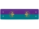 Part No: 61862  Name: Plastic Canopy with Purple and Dark Turquoise Stripes and Arendelle Crest Pattern