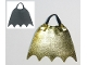 Part No: 68174pb01  Name: Duplo Wear Cloth Cape with Elastic Loop, Scalloped 5 Points (Batman), Black and Metallic Gold Sides