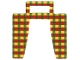 Part No: 97122  Name: Cloth Curtain with Red, Yellow and Green Pattern