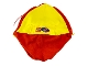 Part No: ScalaTentCloth  Name: Scala Tent Cloth with Yellow and Red Panels, LEGO Logo and Scala Logo Pattern
