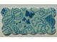 Part No: bb0750pb01  Name: Cloth Sewing, Rectangular, Scalloped Edges, Stars and Butterflies Pattern