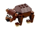Part No: bear01  Name: Bear with Black Eyes with Pupils Pattern and Reddish Brown Round Plate Ears - Brick Built