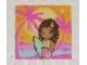 Part No: clikits076pb03  Name: Clikits Paper, Insert 4 x 4 for Frame clikits011, Hawaiian Surfer Girl Image
