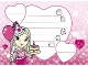 Part No: clikits102pb02  Name: Clikits Paper, Party Invitation 'Heart' holding Cake and Balloon