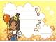 Part No: clikits102pb03  Name: Clikits Paper, Party Invitation 'Daisy' holding Card and Balloon