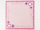Part No: clikits310pb01  Name: Clikits Paper, Card with Hole with Hearts, Stars, and Flowers on Pink Background with Dark Pink Border Pattern