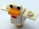 Part No: minechicken02  Name: Minecraft Chicken, Wings Spread - Brick Built