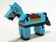 Part No: minehorse04  Name: Minecraft Horse Medium Azure - Brick Built
