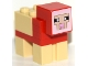 Part No: minesheep04  Name: Minecraft Sheep, Red, Sheared - Brick Built