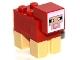 Part No: minesheep05  Name: Minecraft Sheep, Red - Brick Built