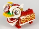 Part No: spa0041  Name: Lion Dance Costume Red - Brick Built