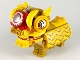 Part No: spa0042  Name: Lion Dance Costume Gold - Brick Built