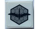 Part No: 11203pb017  Name: Tile, Modified 2 x 2 Inverted with Dino Pteranodon on Hexagons Pattern (Sticker) - Set 75915