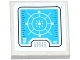Part No: 11203pb056  Name: Tile, Modified 2 x 2 Inverted with Medium Azure Radar Screen Pattern (Sticker) - Set 70173
