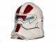 Part No: 11217pb04  Name: Minifigure, Headgear Helmet SW Clone Trooper with Jek-14 Light Blue Visor and Dark Red Pattern