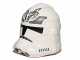 Part No: 11217pb07  Name: Minifigure, Headgear Helmet SW Clone Trooper with Wolf Insignia on Forehead and Dark Bluish Gray Pattern