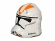 Part No: 11217pb11  Name: Minifigure, Headgear Helmet SW Clone Trooper with Orange 212th Battalion Pattern