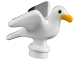 Part No: 12891pb01  Name: Bird, Seagull with Bright Light Orange Beak and Black and Light Bluish Gray Wings Pattern
