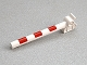 Part No: 13359pb01  Name: Duplo, Train Crossing Gate Crossbar with Red Stripes Pattern