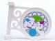Part No: 13459pb001  Name: Road Sign Round on Pole with Dog, Cat and Paw Print Pattern on Both Sides (Stickers) - Set 41007