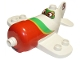 Part No: 13518pb01  Name: Duplo Airplane with Disney Planes El Chupacabra Pattern