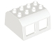 Part No: 13530  Name: Duplo, Train Locomotive Cabin Roof 2 x 4 Studs, 4 Medium Windows