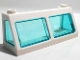 Part No: 13760c02  Name: Windscreen 2 x 6 x 2 Train with Trans-Light Blue Glass (13756 / 13760)