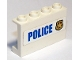 Part No: 14718pb024  Name: Panel 1 x 4 x 2 with Side Supports - Hollow Studs with 'POLICE' and Badge Pattern (Sticker) - Set 60142
