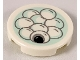 Part No: 14769pb254  Name: Tile, Round 2 x 2 with Bottom Stud Holder with Sweet Rice Balls on Light Aqua Plate Pattern