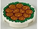 Part No: 14769pb256  Name: Tile, Round 2 x 2 with Bottom Stud Holder with 12 Chinese Lion's Head Meatballs on Green Garnish Pattern