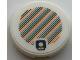 Part No: 14769pb338  Name: Tile, Round 2 x 2 with Bottom Stud Holder with Super Mario Scanner Code Super Mushroom Pattern (Sticker) - Sets 30385 / 40414 / 71366